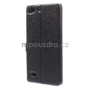 PU kožený obal s okýnky na Lenovo Vibe X2 - černý - 5