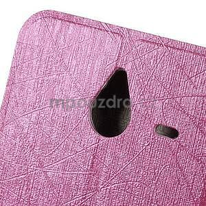Růžové klopové pouzdro pro Microsot Lumia 640 XL - 5