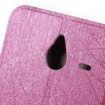 Růžové klopové pouzdro pro Microsot Lumia 640 XL - 5/6