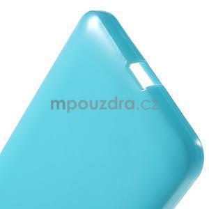 Světle modrý gelový obal pro Microsoft Lumia 640 XL - 5