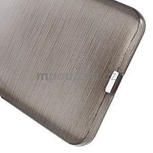 Gelový kryt s broušeným vzorem Microsoft Lumia 640 XL - šedý - 5