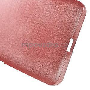 Gelový kryt s broušeným vzorem Microsoft Lumia 640 XL - růžový - 5