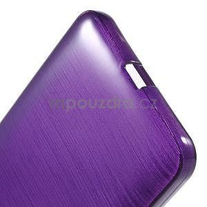 Gelový kryt s broušeným vzorem Microsoft Lumia 640 XL - fialový - 5