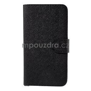PU kožené pouzdro na Micosoft Lumia 640 XL - černé - 5