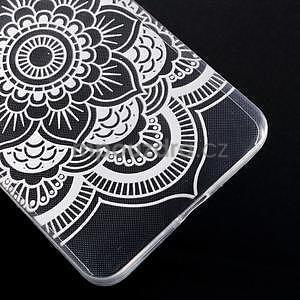 Transparentní gelový obal na Microsoft Lumia 640 XL - květina - 5