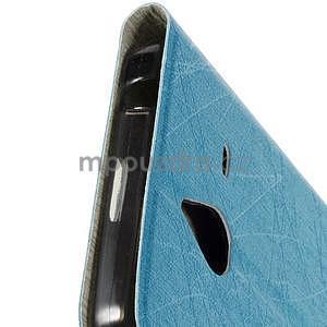 Světle modré klopové pouzdro pro Microsot Lumia 640 XL - 5