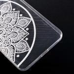 Transparentní gelový obal na Microsoft Lumia 640 XL - lotus - 5/5