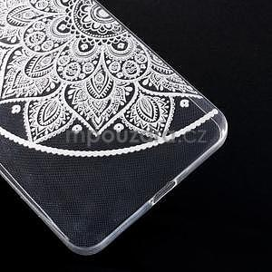 Transparentní gelový obal na Microsoft Lumia 640 XL - lotus 2 - 5