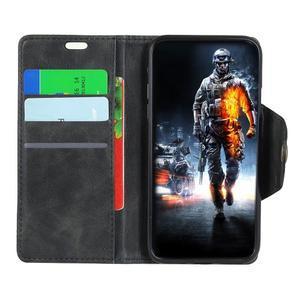 Wall PU kožené pouzdro na Motorola Moto G6 Play - černé - 5