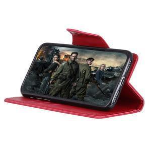 Wall PU kožené pouzdro na Motorola Moto G6 Play - červené - 5