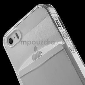 Ultra tenký obal s kapsičkou pro iPhone 5 a 5s - transparentní - 5
