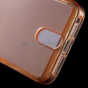 Ultra tenký obal s kapsičkou pro iPhone 5 a 5s - oranžový - 5