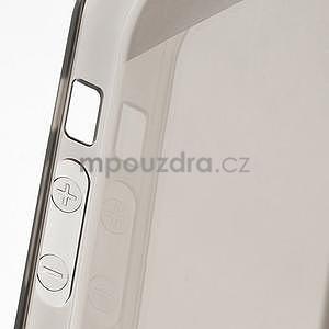 Gelový transparentní obal na iPhone 5 a 5s - šedý - 5
