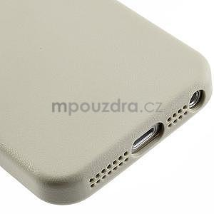 Gelový obal s texturou na iPhone 5 a 5s - šedý - 5