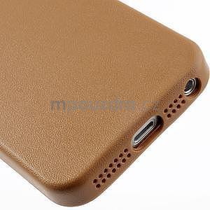 Gelový obal s texturou na iPhone 5 a 5s - oranžový - 5