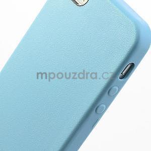 Gelový obal s texturou na iPhone 5 a 5s - modrý - 5