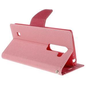 Diary PU kožené pouzdro na LG G4c - růžové - 5