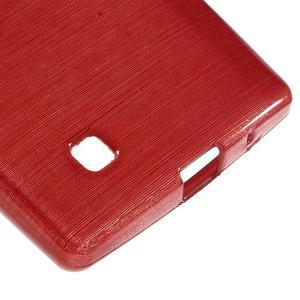 Brush gelový kryt na LG G4c H525N - červený - 5