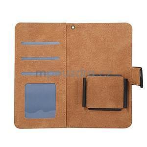 Croco PU kožené univerzálne puzdro na mobily do rozmeru 15,7 x 8 x1,8 cm - čierne - 5