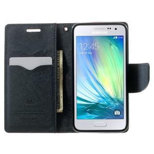 Diary PU kožené pouzdro na Samsung Galaxy A3 - červené - 5