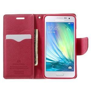 Diary PU kožené pouzdro na Samsung Galaxy A3 - růžové - 5