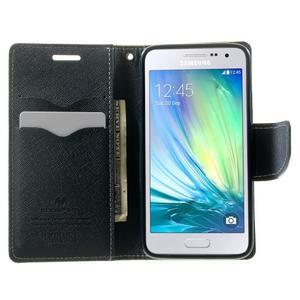 Diary PU kožené pouzdro na Samsung Galaxy A3 - zelené - 5
