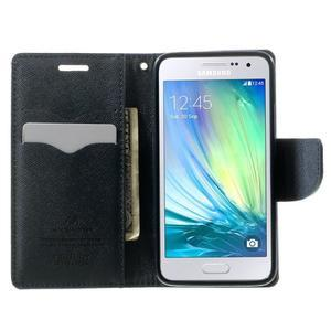 Diary PU kožené pouzdro na Samsung Galaxy A3 - fialové - 5