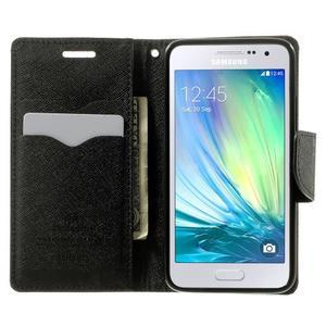 Diary PU kožené pouzdro na Samsung Galaxy A3 - hnědé - 5