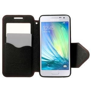 Roar peněženkové pouzdro s okýnkem na Samsung Galaxy A3 - červené - 5