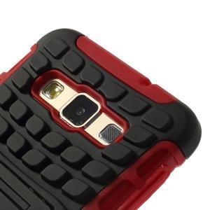 Outdoor odolný kryt na mobil Samsung Galaxy A3 - červený - 5