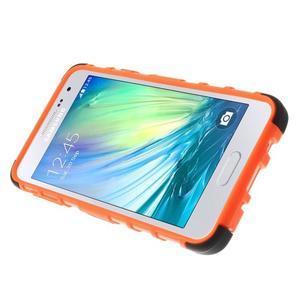 Outdoor odolný kryt na mobil Samsung Galaxy A3 - oranžový - 5