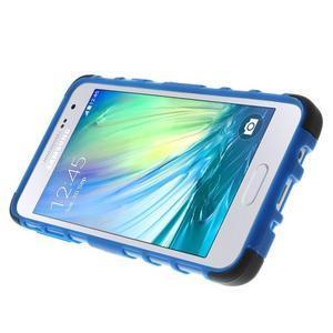 Outdoor odolný kryt na mobil Samsung Galaxy A3 - modrý - 5