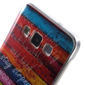 Gelový obal na mobil Samsung Galaxy A3 - barvy dřeva - 5