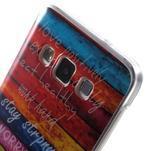 Gelový obal na mobil Samsung Galaxy A3 - barvy dřeva - 5/5