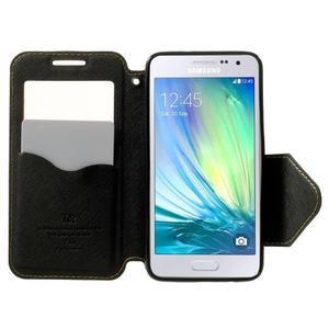 Roar peněženkové pouzdro s okýnkem na Samsung Galaxy A3 - žluté - 5