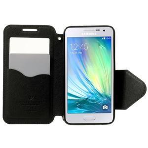 Roar peněženkové pouzdro s okýnkem na Samsung Galaxy A3 - černé - 5