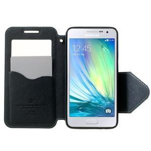 Roar peněženkové pouzdro s okýnkem na Samsung Galaxy A3 - světlemodré - 5