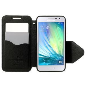 Roar peněženkové pouzdro s okýnkem na Samsung Galaxy A3 - tmavěmodré - 5