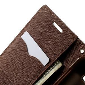 Fancy PU kožené pouzdro na Samsung Galaxy Core Prime - černé/hnědé - 5