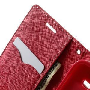 Fancy PU kožené pouzdro na Samsung Galaxy Core Prime - růžové - 5
