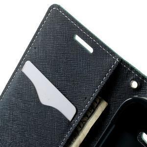 Fancy PU kožené pouzdro na Samsung Galaxy Core Prime - azurové - 5