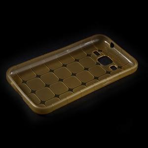 Square matný gelový obal na Samsung Galaxy Core Prime - champagne - 5