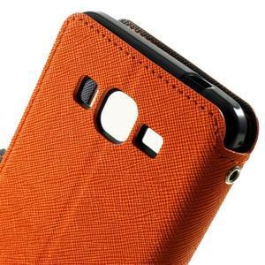 Safety pouzdro s okýnkem pro Samsung Galaxy Grand Prime - oranžové - 5