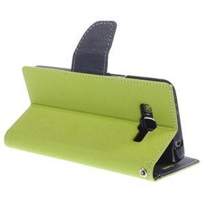 Diary PU kožené pouzdro na mobil Samsung Galaxy Grand Prime - zelené - 5