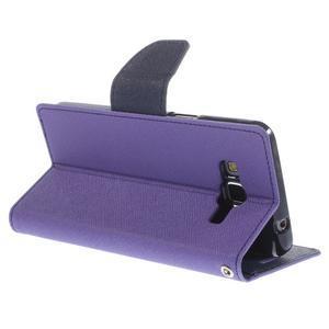 Diary PU kožené pouzdro na mobil Samsung Galaxy Grand Prime - fialové - 5