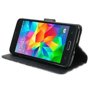 Wallet PU kožené pouzdro na mobil Samsung Galaxy Grand Prime - US vlajka - 5