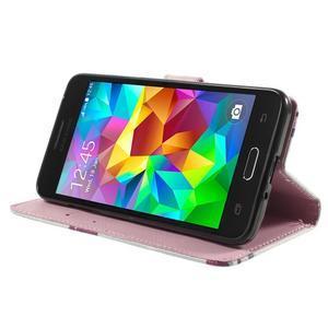 Wallet PU kožené pouzdro na mobil Samsung Galaxy Grand Prime - květy - 5