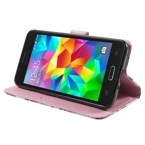 Wallet PU kožené pouzdro na mobil Samsung Galaxy Grand Prime - květiny - 5