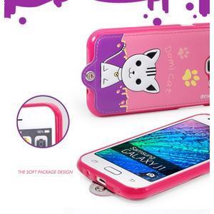 Domi gelové pouzdro s kočičkou na Samsung Galaxy J1 - rose - 5