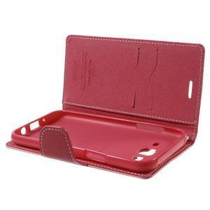 Diary stylové peněženkové pouzdro na Samsung Galaxy J5 - růžové - 5